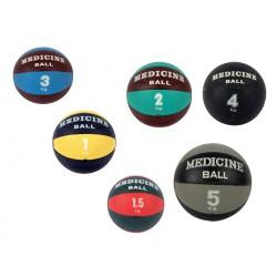 Piłka lekarska 20 cm standardowa MSD czarna - 4 kg