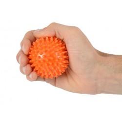 Trener dłoni piłeczka do ściskania z kolcami MSD pomarańczowa 6 cm.