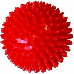 Trener dłoni piłeczka do ściskania z kolcami MSD czerwona 9 cm.