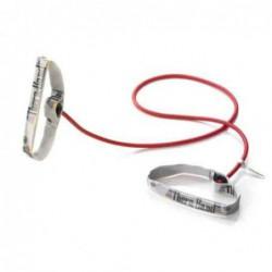 Tubing Thera Band 1,4 metra z elastycznymi uchwytami – czerwony (opór średni)