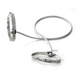 Tubing Thera Band 1,4 metra z elastycznymi uchwytami – srebrny (opór super mocny)
