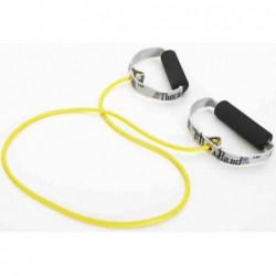 Tubing Thera Band 1,4 metra ze sztywnymi, gąbkowymi uchwytami – żółty (opór słaby)