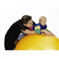 Duża piłka gimnastyczna Puschball  Togu 120 cm – pomarańczowa