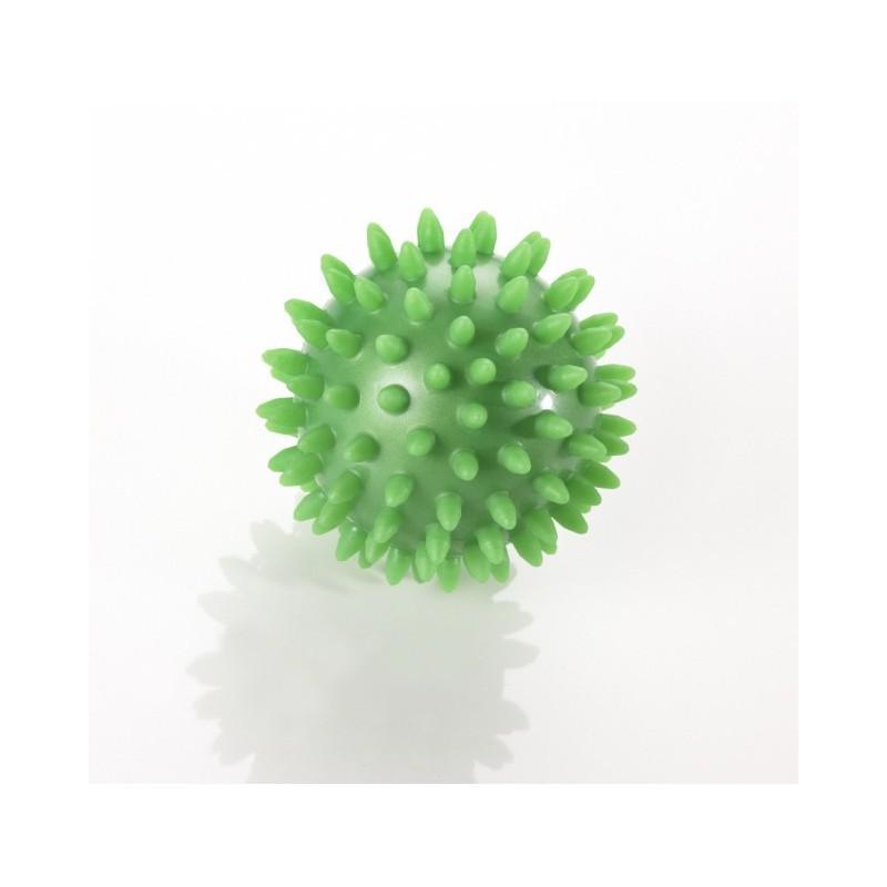 Trener dłoni piłeczka Jeż do ściskania Thera Band zielona - 8 cm