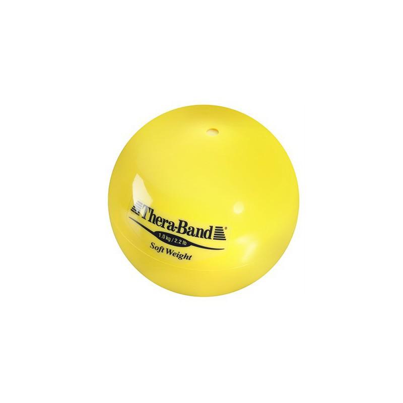 Mała piłka lekarska Thera-Band Soft Weight 1 kg (żółta)