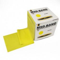 Taśma rehabilitacyjna MSD 22,5 m - żółta (słaby opór)-