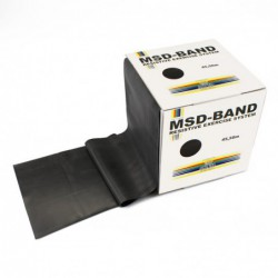 Taśma rehabilitacyjna MSD 45,5 m - czarna (specjalnie mocny opór)