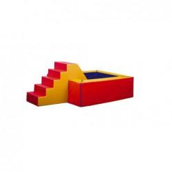 Suchy basen – wymiary : 250x250x50 cm z matą podłogową 190x190
