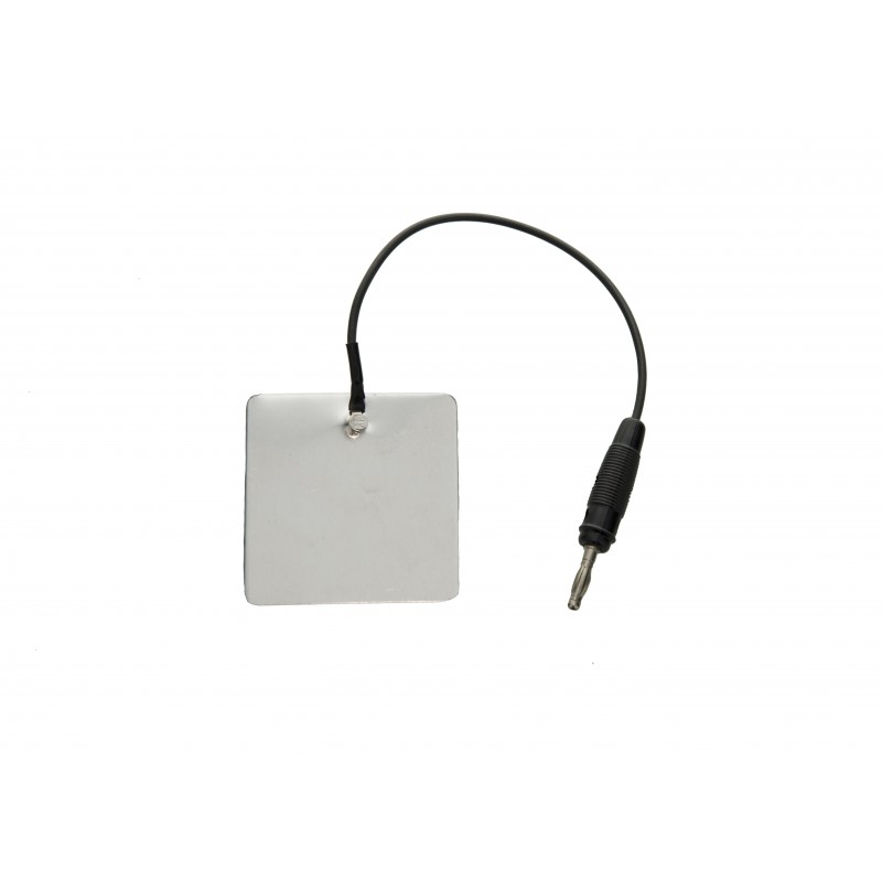 Elektroda aluminiowa 60 x 60 mm, przyłącze 2 mm