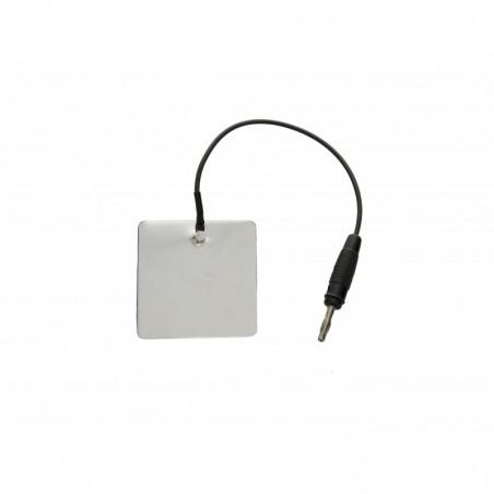 Elektroda aluminiowa 60 x 60 mm, przyłącze 4 mm
