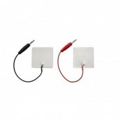 """Elektroda aluminiowa 60 x 120 mm, przyłącze typu """"wtyk"""" 2 mm"""