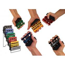 Trener dłoni Digi-Flex MSD- zestaw 5 kolorów + stojak