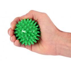 Trener dłoni piłeczka do ściskania z kolcami MSD zielona 7 cm.
