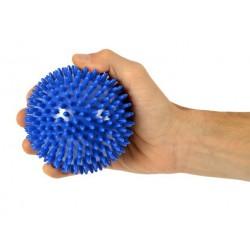 Trener dłoni piłeczka do ściskania z kolcami MSD niebieska 10 cm.