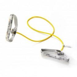 Tubing Thera Band 1,4 metra z elastycznymi uchwytami – żółty (opór słaby)