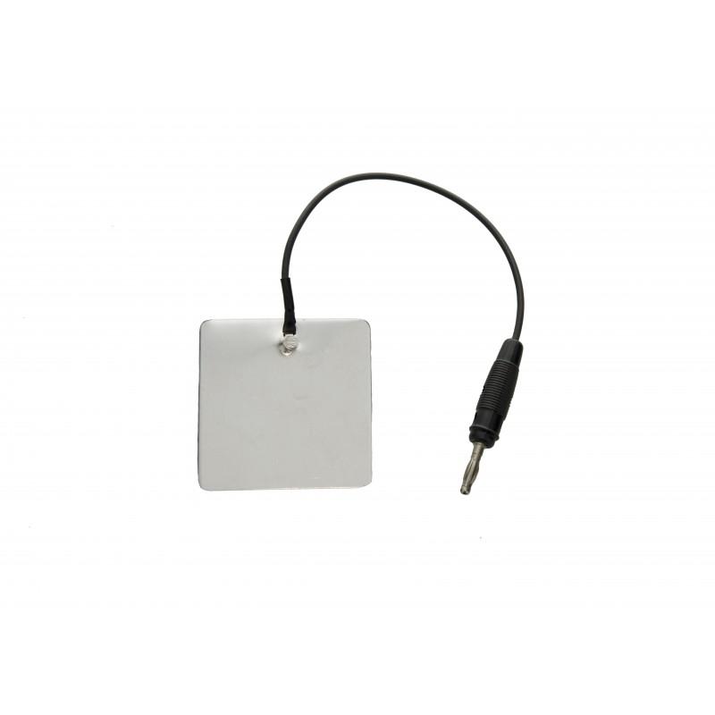 """Elektroda aluminiowa 25 x 25 mm, przyłącze typu """"gniazdo"""" 2 mm"""
