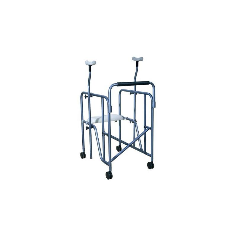 Balkonik inwalidzki wysoki z podpaszkami