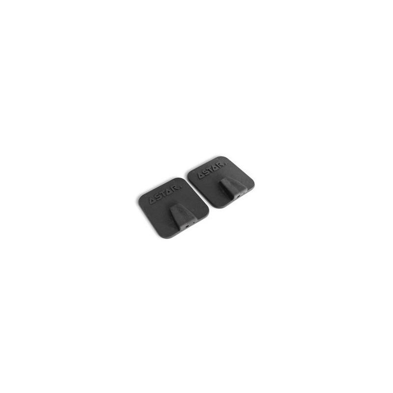 Elektroda silikonowo - węglowa 6 cm x 6 cm posiadające gniazdo 2 i 4 mm