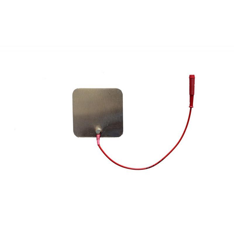 """Elektroda cynowa 60 x 60 mm, przyłącze typu """"gniazdo"""" 4 mm"""