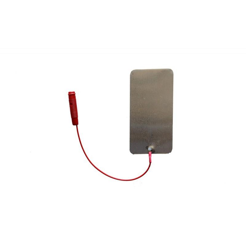 """Elektroda cynowa 60 x 120 mm, przyłącze typu """"gniazdo"""" 4 mm"""