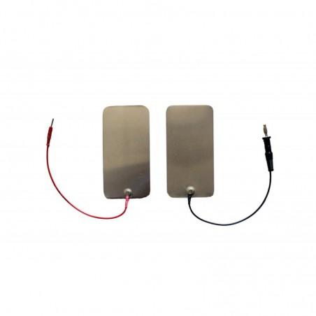 """Elektroda cynowa 60 x 120 mm, przyłącze typu """"wtyk"""" 4 mm"""