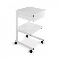 Stolik pod aparaturę metalowy II półki + szuflada