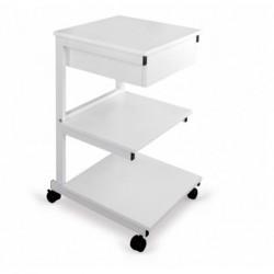 Stolik pod aparaturę aluminiowy III półki + szuflada