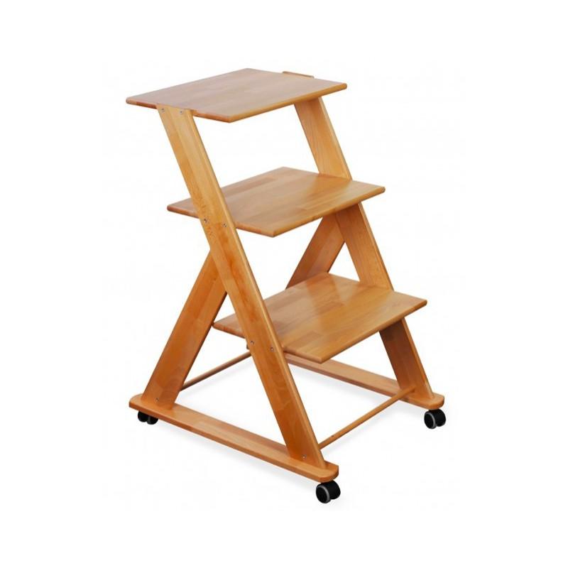 Stolik drewniany pod aparaturę