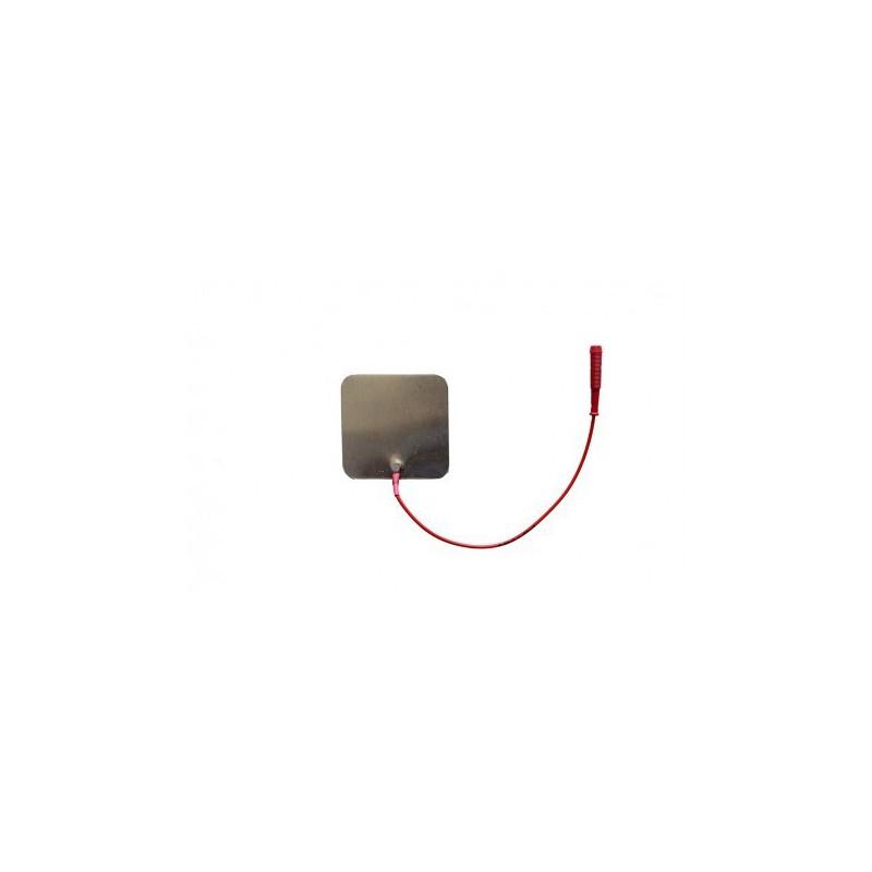 """Elektroda aluminiowa 60 x 60 mm, przyłącze typu """"gniazdo"""" 2 mm"""