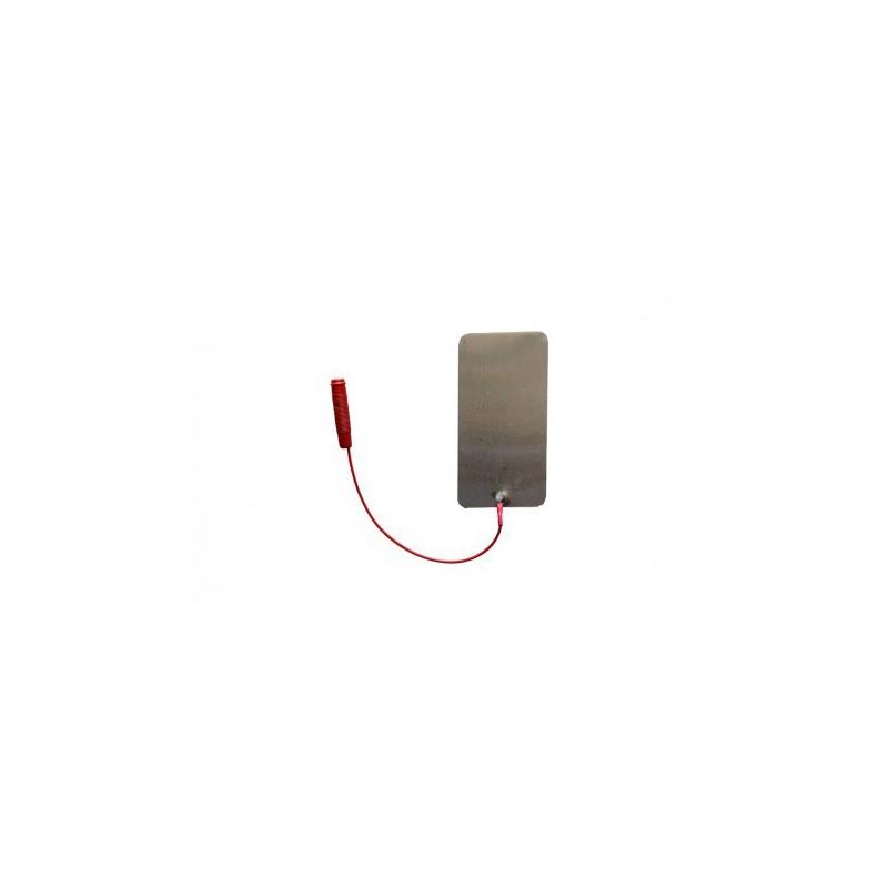 """Elektroda aluminiowa 60 x 120 mm, przyłącze typu """"gniazdo"""" 2 mm"""