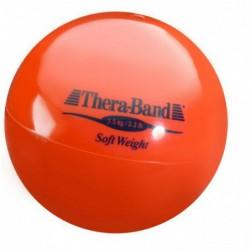 Mała piłka lekarska Thera-Band Soft Weight 1,5 kg (czerwona)