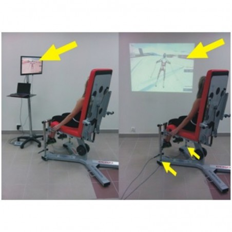 Fotel do ćwiczeń oporowych LEG FORCE FEEDBACK - zestaw